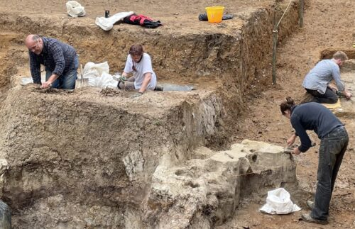Ongoing excavations at Barnham, Suffolk
